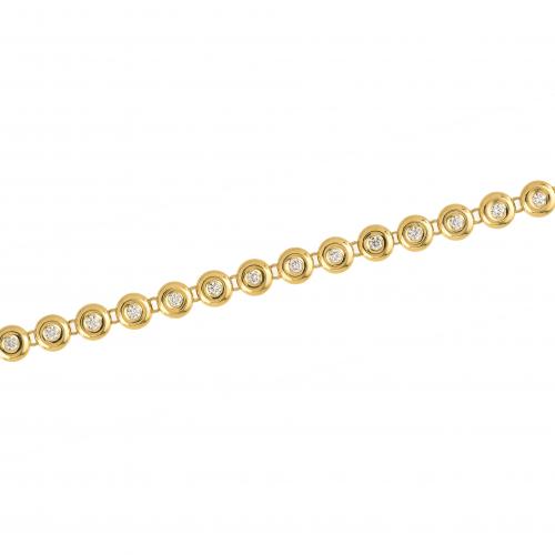 Bratara aur 18K cu diamante 1.15 G VS2 - 6090000087471