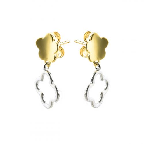Cercei aur 14k  galben trifoi - 2905772014003
