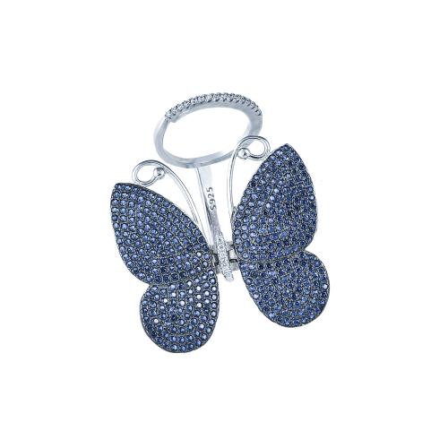 Inel argint zirconiu fluture - 5000000592630