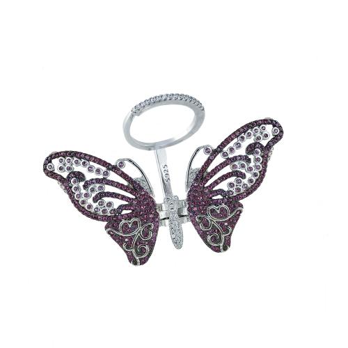 Inel argint zirconiu fluture - 5000000592500