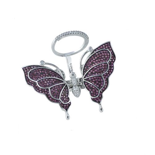 Inel argint zirconiu fluture - 5000000592678