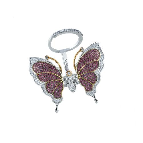 Inel argint zirconiu fluture - 5000000582884