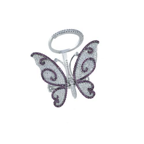 Inel argint zirconiu fluture - 5000000592777 16