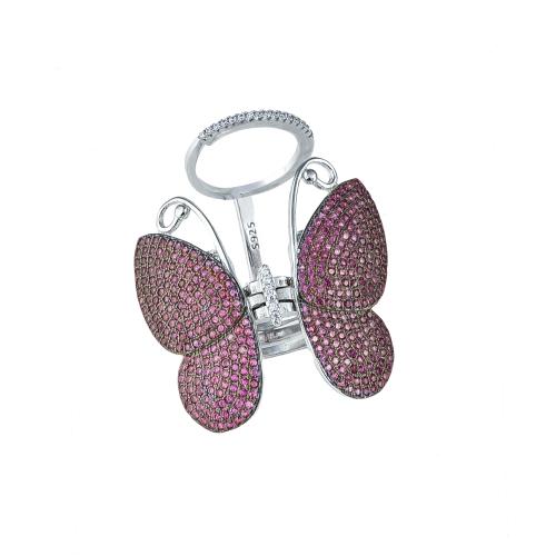 Inel argint zirconiu fluture - 5000000592630 11
