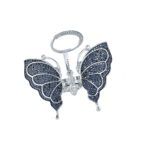Inel argint zirconiu fluture - 5000000592678 16