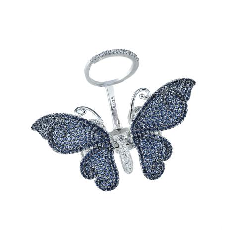 Inel argint zirconiu fluture - 5000000592647 19