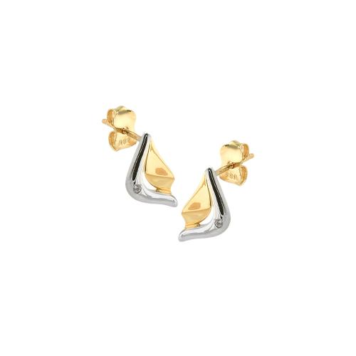 Cercei aur 14K abstract - 2920334012600