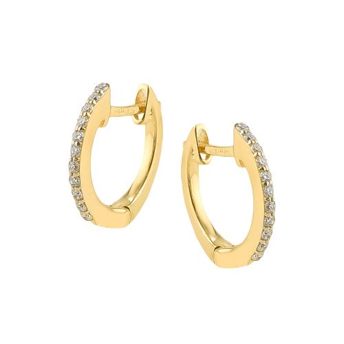 Cercei aur 18K cu diamante 0.14 G SI - 6020000034298