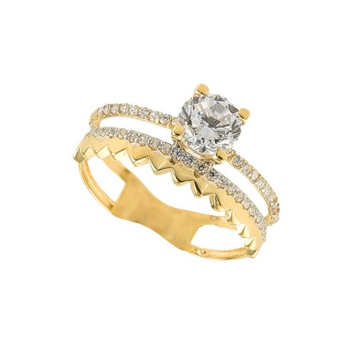 Inel aur 14K zirconiu - 2900082022908