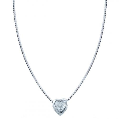 Lant argint zirconiu inima - 5000000706280