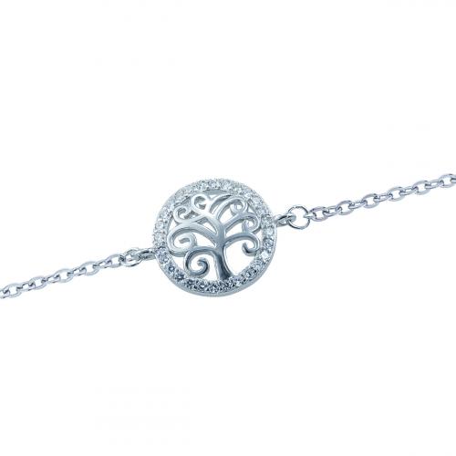Bratara argint zirconiu copac  - 5000000706372