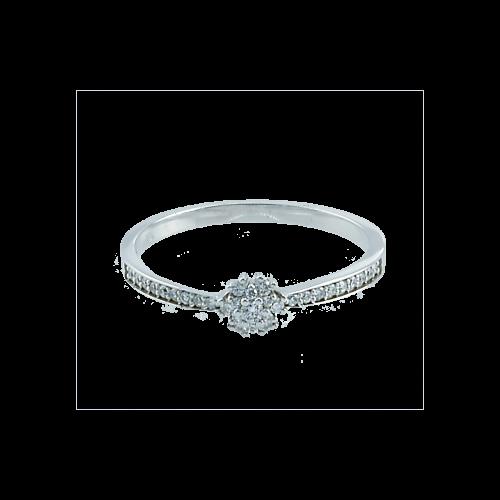 Inel aur 18K cu diamante 0.15 G VSSI - 6020000035202