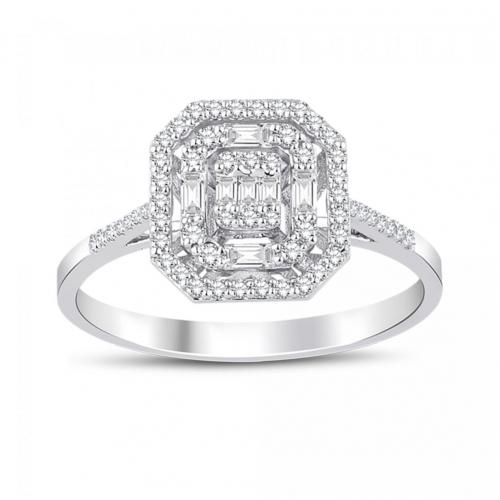 Inel aur 18K diamante 0.32 G SI promo - 6012000061145
