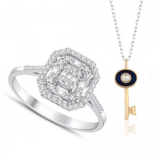 Inel aur 18K diamante 0.32 G SI promo - 6012000061091
