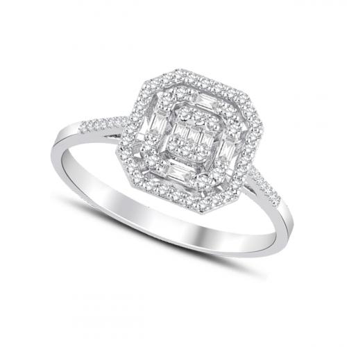 Inel aur 18K diamante 0.32 G SI promo - 6012000061053