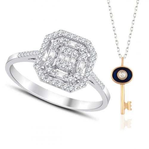 Inel aur 18K diamante 0.32 G SI promo - 6012000061404