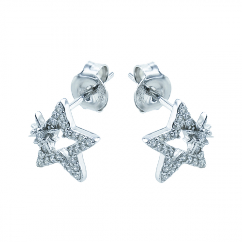 Cercei argint zirconiu star - 5000000716906