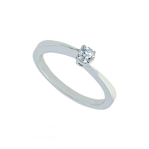 Inel aur logodna aur 18K cu diamant  0.09 G SI   - 6020000041562