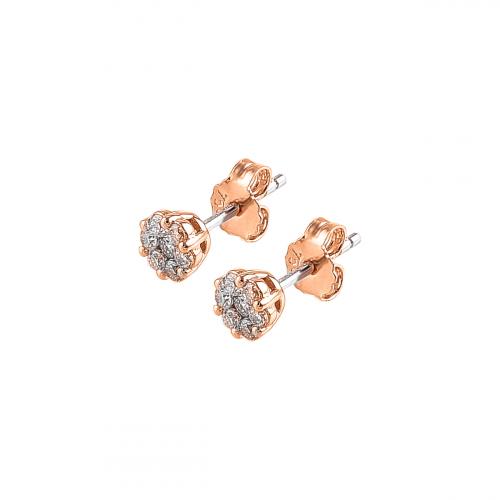 Cercei aur 18K cu diamant 0.39 F-G SI  - 6011000039925