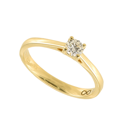 Inel logodna aur 18K cu diamante 0.2 G-H SI - 6012000064290