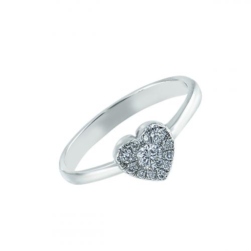 Inel aur 18K cu diamante 0.18 F-G SI  - 6012000065167