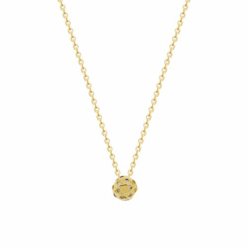 Lant aur 14k cu pandantiv geometric pietre zirconiu - 2905030023709