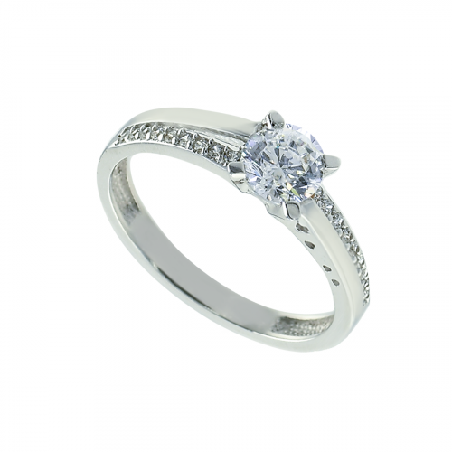 Inel aur 14K zirconiu logodna cu pietre - 2900198022502
