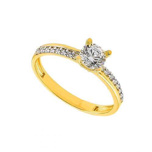 Inel logodna aur 14K zirconiu  - 2900161015203
