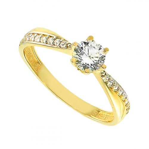 Inel de logodna aur 14k zirconiu - 2900161012509