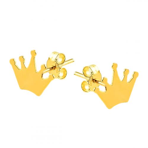Cercei aur 14K Kocak galben   coroana - 2904572008403