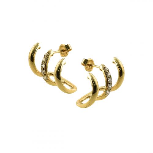 Cercei aur 14k elegant - 2920877041105