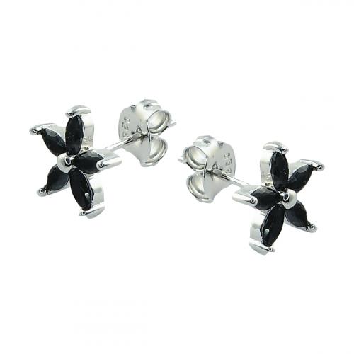 Cercei argint zirconiu floare - 5000000679645