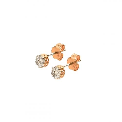 Cercei aur 18K cu diamant 0.16 G SI  - 6011000041768