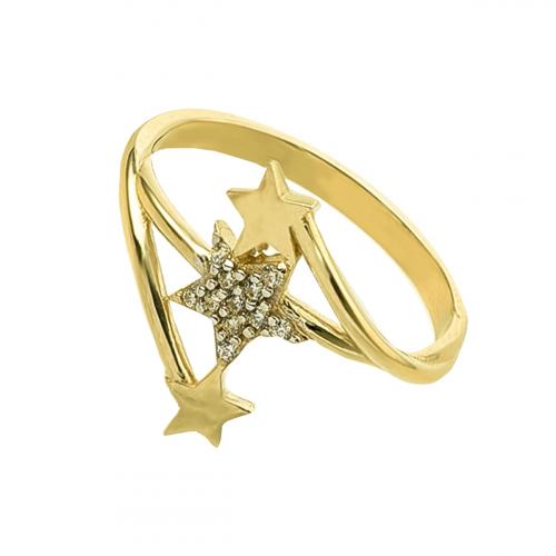 Inel aur 14k zirconiu stea - 2901448025106