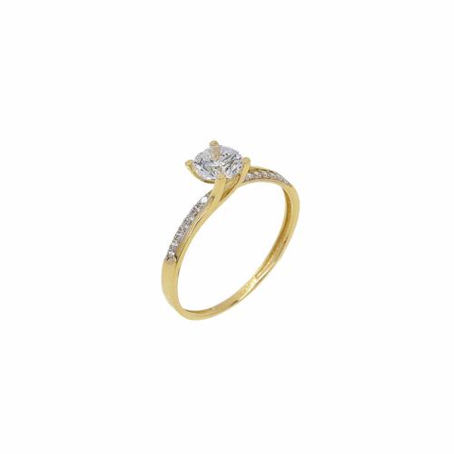 Inel de logodna aur 14k zirconiu - 2900259013302