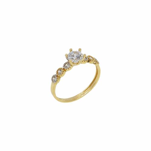 Inel de logodna aur 14k zirconiu - 2900259014101