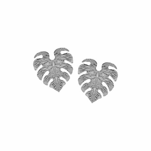 Cercei argint frunza monstera - 648849
